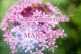 Modèle de texte pour Anniversaire de mariage