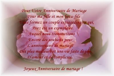 Poème anniversaire de mariage des grands parents