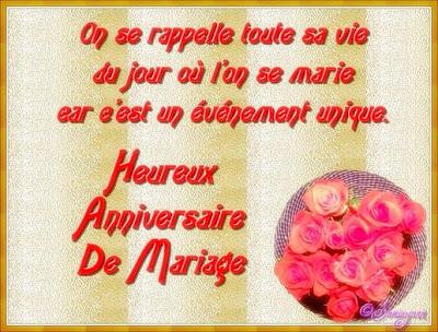 Poème anniversaire de mariage
