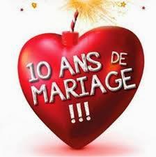 Sms anniversaire du mariage 10 ans