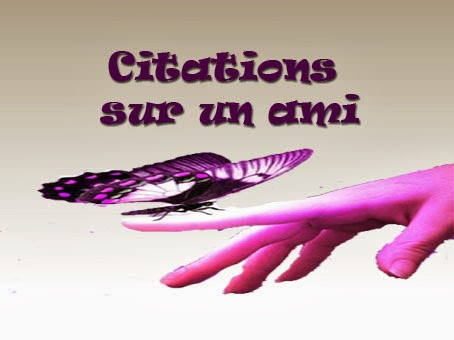 Citations sur un ami