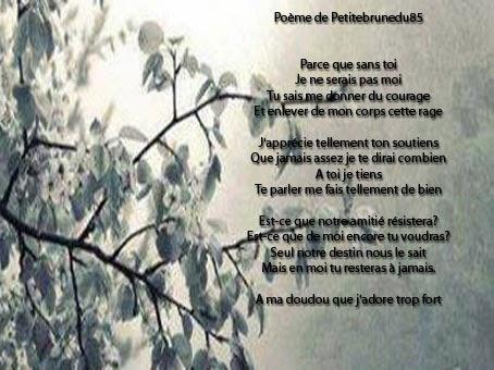 Poeme pour amie que j'aime