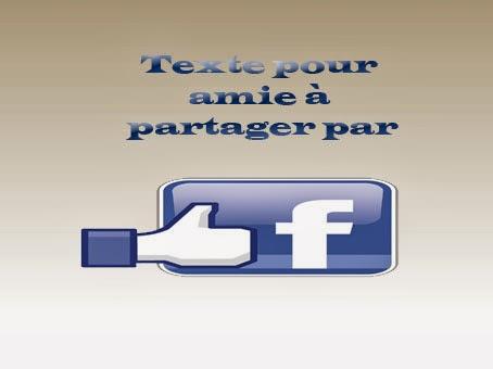 Texte pour amie facebook