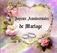 Heureux anniversaire de mariage mon amour