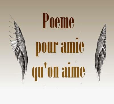 Poeme pour amie qu'on aime