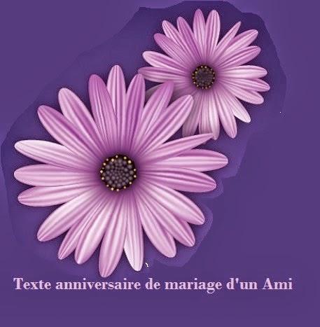 Texte et carte anniversaire de mariage a un ami