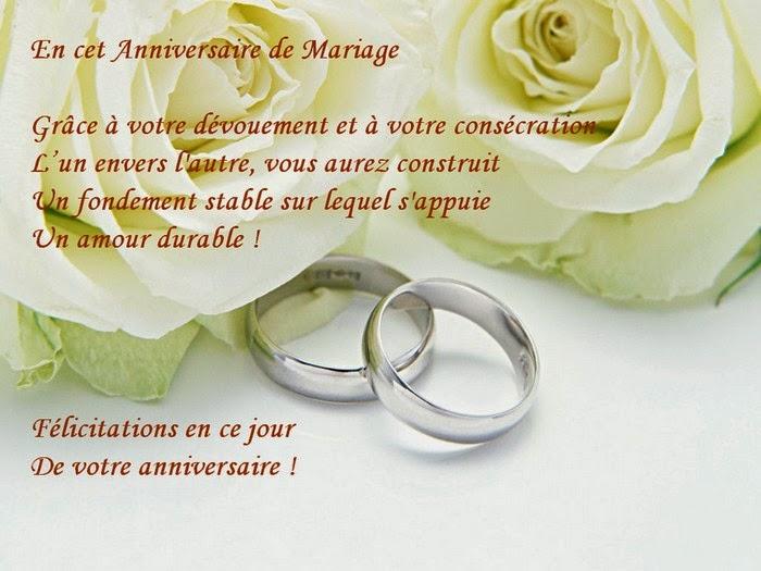 Jolie carte anniversaire de mariage