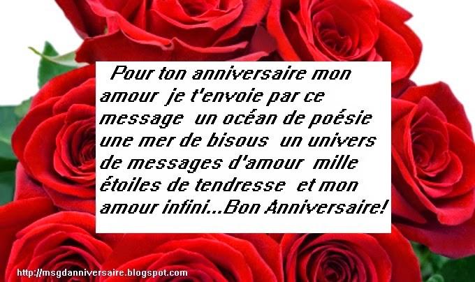 Jolie texted'anniversaire de mariage pour mon amour