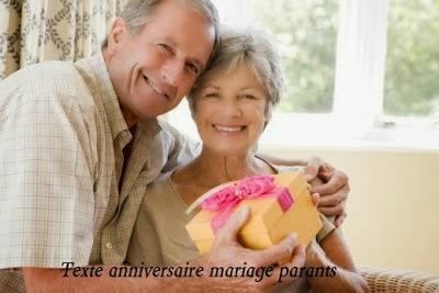 Texte anniversaire mariage parent