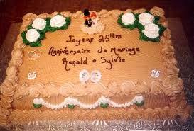 Carte anniversaire de mariage gateau