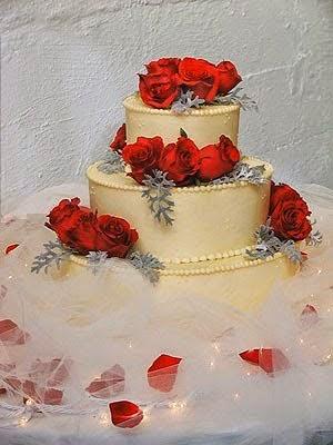Belle carte de gateau  d'anniversaire de mariage