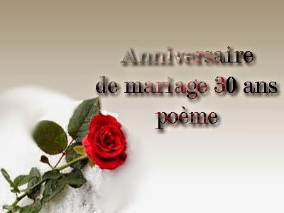 Anniversaire de mariage 30 ans texte