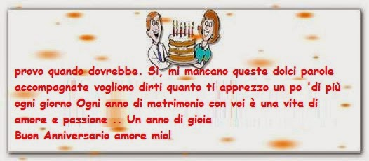 Texte anniversaire de mariage en italien