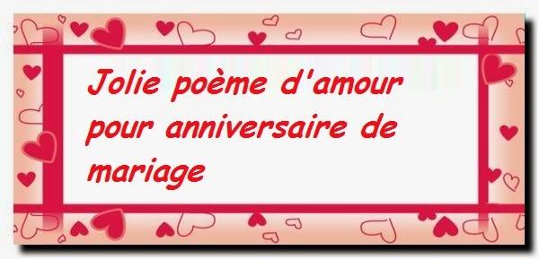Jolie poème d'amour pour anniversaire de mariage
