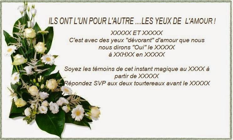 Super Texte Invitation Mariage Original - Comment et où trouver CV87