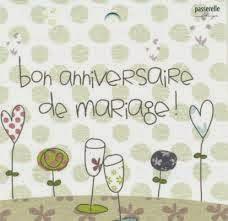 Vœux anniversaire de mariage texte
