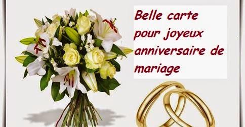 Belle carte pour joyeux anniversaire de mariage