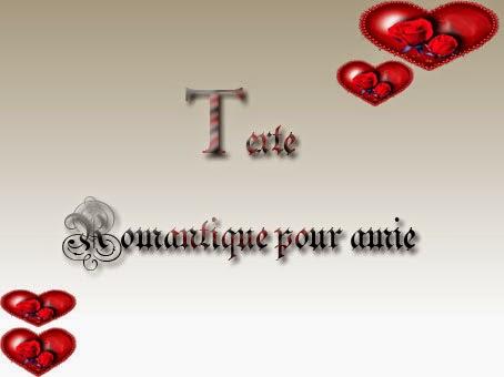 Texte romantique pour amie