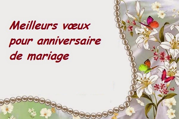 Meilleurs vœux pour anniversaire de mariage