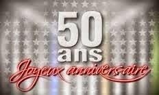 Carte anniversaire de mariage 50 ans