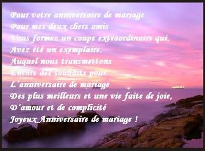 Texte anniversaire de mariage pour des amis