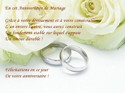 Beaux message pour anniversaire de mariage