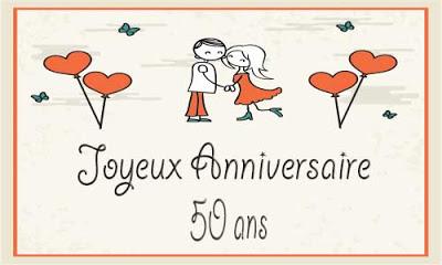 sms d'anniversaire de mariage 50 ans