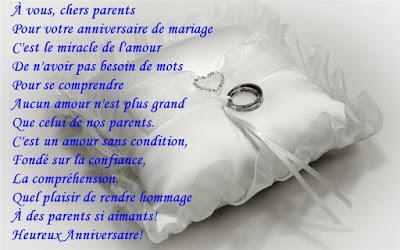 Poème pour anniversaire mariage