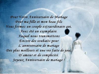 Poème pour anniversaire de mariage