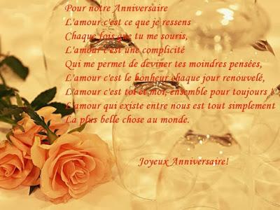 Texte d'amour souhaiter anniversaire de mariage