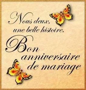Carte pour souhaiter anniversaire de mariage