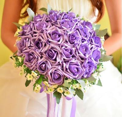 bouquet de mariée artificiel pas cher