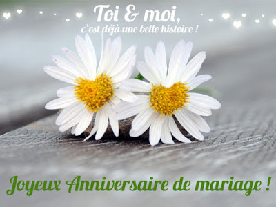 Déclaration d'amour pour anniversaire de mariage