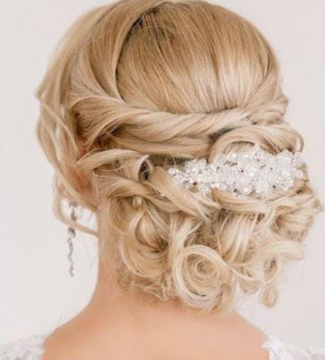 belle coiffure de mariage