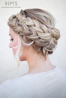 coiffure mariage cheveux longs femme 2017
