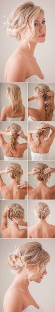 coiffure mariage cheveux mi long attachés